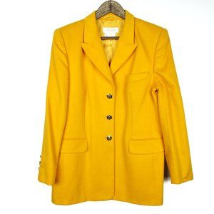 Escada Margaretha Ley Yellow Wool Angora Jacket